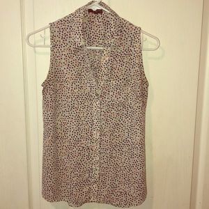 The Limited sleeveless multicolored blouse